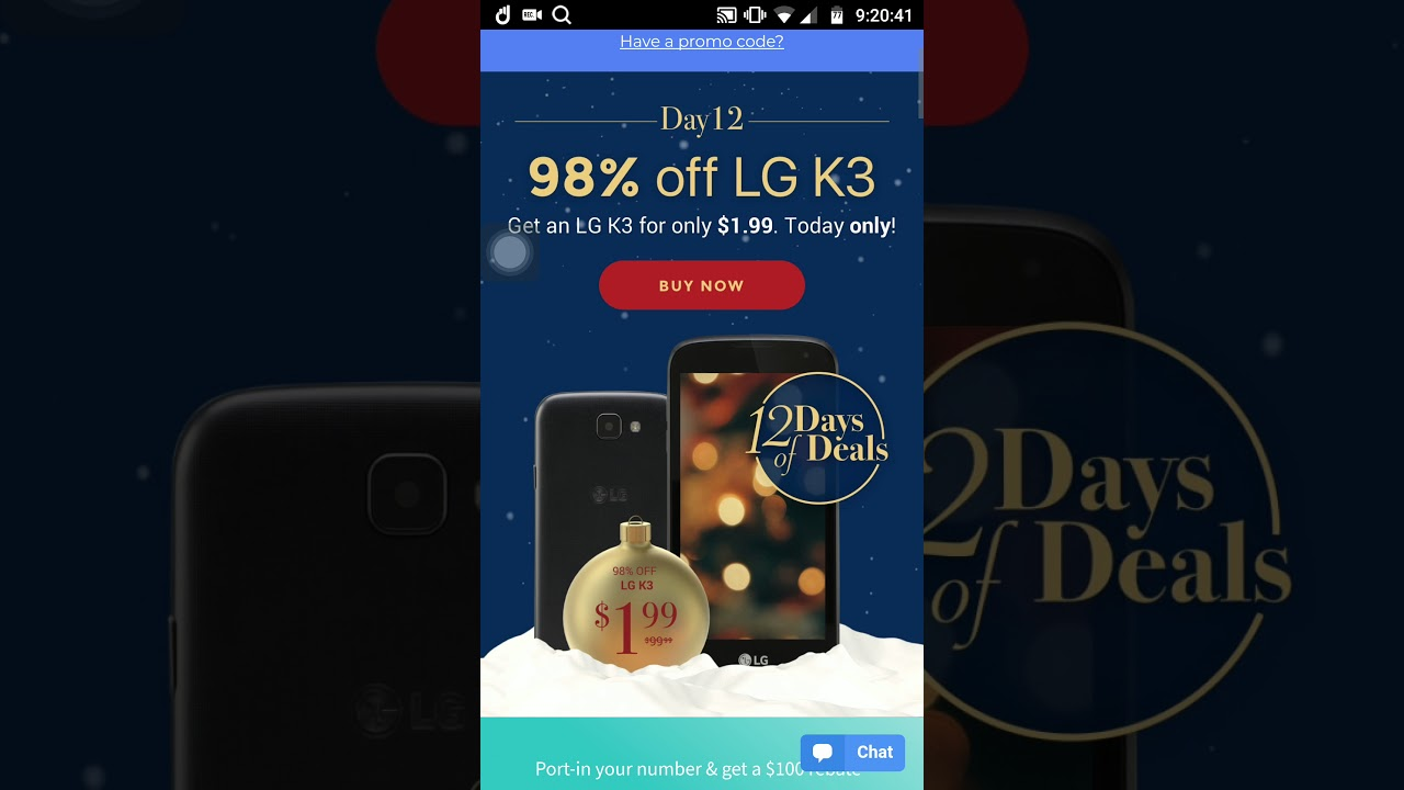 Day 12 of 12 Days of Christmas Textnow Wireless LG K3 Only $1 99!