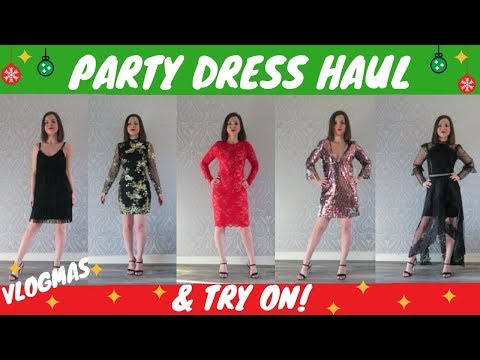 PARTY DRESS HAUL & TRY ON - ZARA / NEW LOOK / RIVER ISLAND / DOROTHY PERKINS / H&M FRENCH CONNECTION
