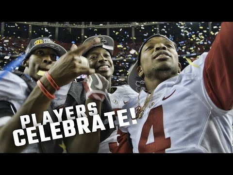 Watch Alabama players celebrate on the field after becoming 2016 SEC Champions