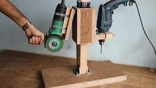 2 In 1 Drill Press / Angle Grinder Stand || Homemade Project