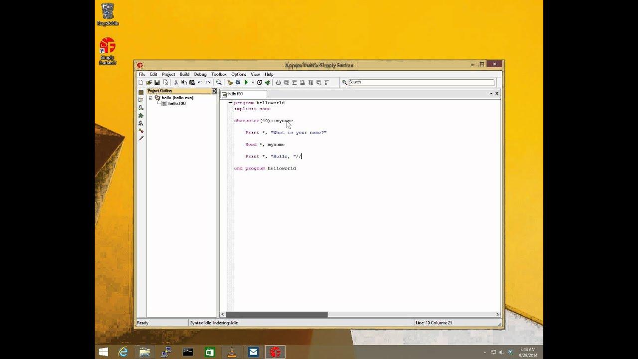 Simply Fortran Quickstart #1: Hello World