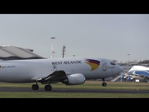 ATLANTIC AIRLINES B737-300F TRAINING @ DONCASTER AIRPORT UK