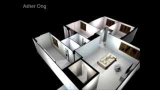 5 Rm Hdb Flat, 5 Improved, 5i Model, Floor Plan, Typical Layout, Chua Chu Kang, 3d Render