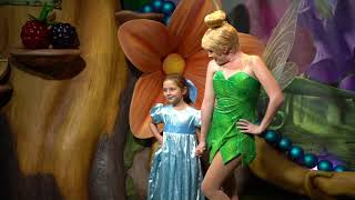 Daisy dressed as Wendy meets Tinkerbell at WDW
