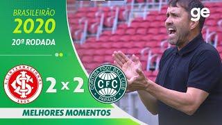 INTERNACIONAL 2 X 2 CORITIBA | MELHORES MOMENTOS | 20ª RODADA BRASILEIRÃO 2020 | ge.globo