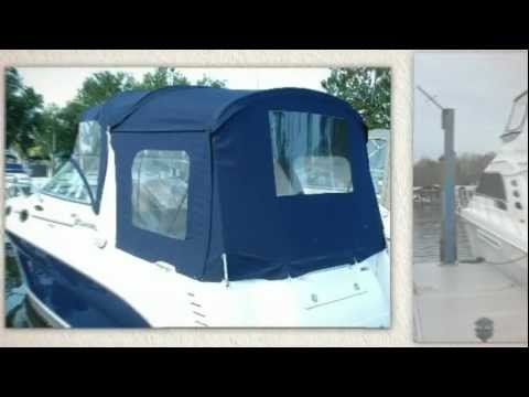 Sea Ray Yacht Canvas Boat Cover - Save $$ - Factory Replacement SeaRay Boat  Covers