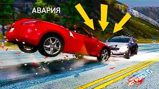БЕШЕНЫЕ ГОНКИ видео про машинки   тачки гонки убегаем от полиции Need for Speed Hot Pursuit