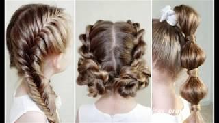 Прически на 1 СЕНТЯБРЯ! - Красивые прически в школу. Beautiful hairstyles for 1 september!