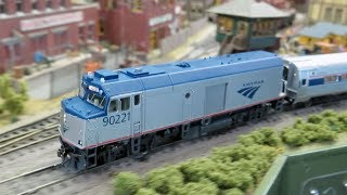 """Rapido Amtrak NPCU """"Cabbage"""" and F40PH in HO Scale"""