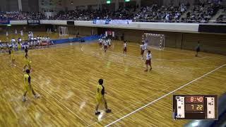 6日 ハンドボール男子 あづま総合体育館 Bコート 明星vs北村山 2回戦 2