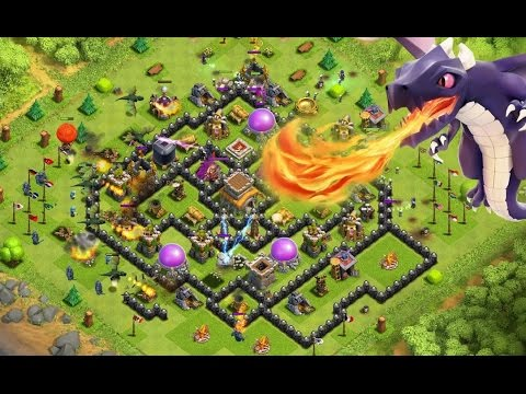 Clash Of Clans Triple Threat Base Defense