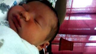 Mason snoring 1 week old