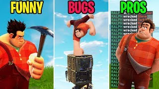 NEW FORTNITE WRECK-IT-RALPH GAMEPLAY! FUNNY vs BUGS vs PROS - Fortnite Funny Moments