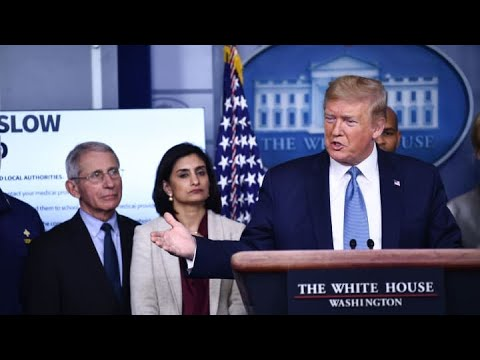 President Donald Trump: Expecting coronavirus to clear up by July or August