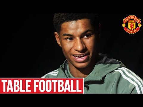 Table Football ft. Marcus Rashford | MUTV | Manchester United