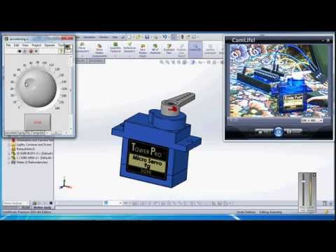 solidworks labview and arduino virtual prototype testing