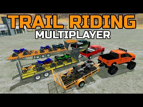 FARMING SIMULATOR 2017 | WOODS TRAIL RIDING | CAN AM | KTM | MULTIPLAYER