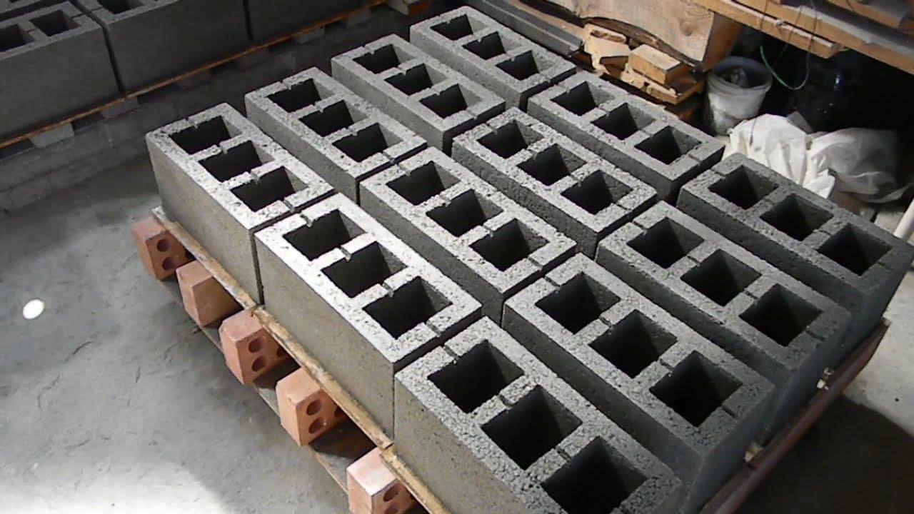 изготовление стеновых блоков своими руками