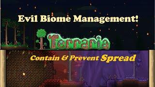 Containing Evil Biomes - Corruption, Criṁson & Hallow Spread Management - Easy!   Terraria 1.4.1.2