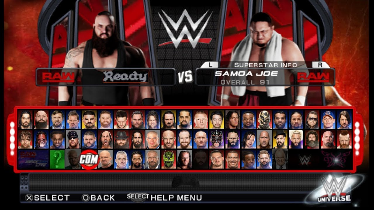 WWE 2K18 PPSSPP Update With New Superstars + Cheats (Fire Max)