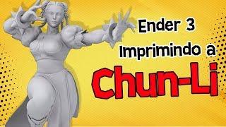 Imprimindo a Chun-Li do Street Fighter V na Ender 3 | Impressora 3D Creality 3D