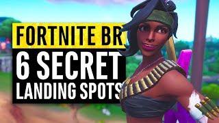 Fortnite | 6 Secret Landing Locations for Safe Easy Wins (Season 8)