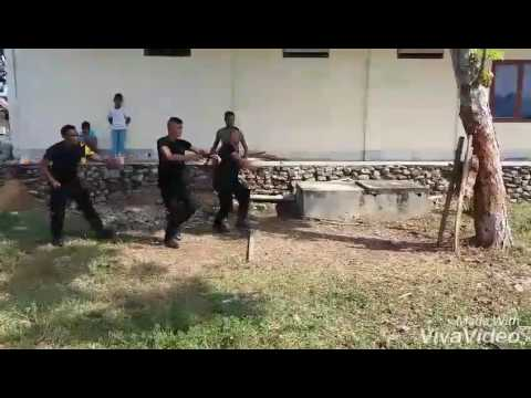 Knife Throwing by Mobile Brigade - INP