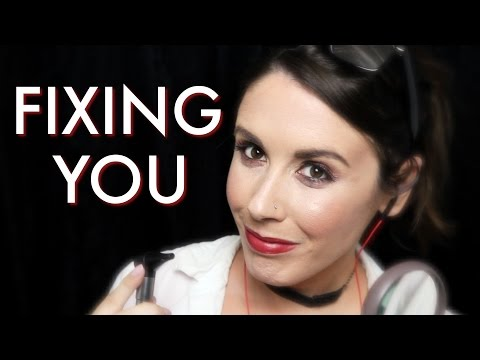 ASMR Fixing You: Personal Attention, Unintelligible Whispers, Ear Cleaning, & More (Role Play)