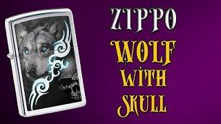 Зажигалка Zippo 28872 Wolf with Skull . Видео обзор