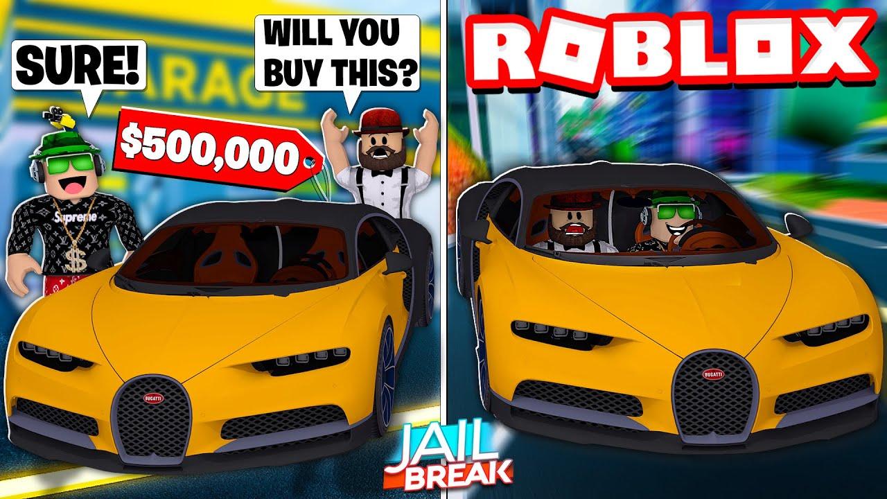 I Got Brand New 500 000 Bugatti Chiron In Roblox Jailbreak Youtube