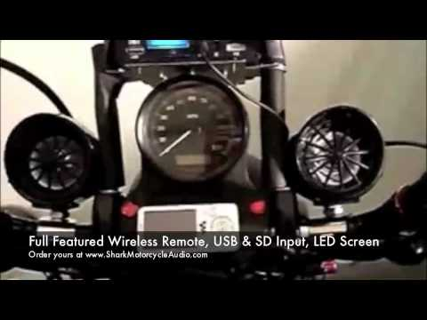 Mini Motorcycle Sound System 600 Watts Shark Motorcycle Aud Youtube