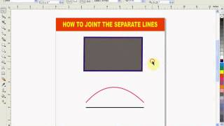 How to Joint Separate Lines in coral draw