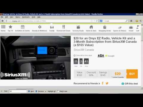 How To Activate The Included Service Of Your New SiriusXM Satellite Radio