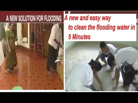 A new and easy way to clean the flooding water in 5 Minutes New way to clean water in homes chemical