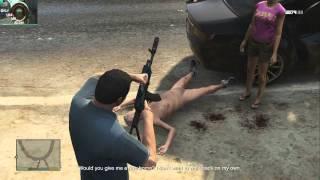 GTA 5: NAKED OLD MAN( DISTURBING)