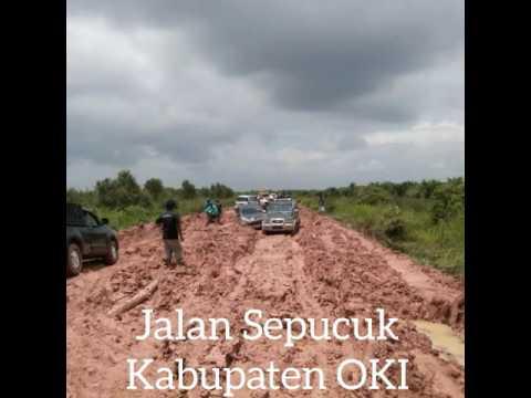 Kondisi Jalan Sepucuk Kayuagung Kabupaten OKI Sumatera Selatan