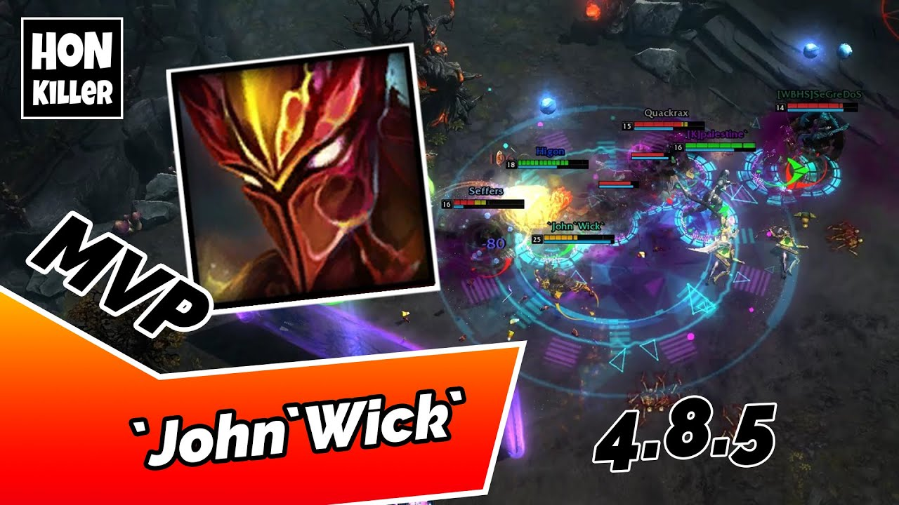 HoN Scout Gameplay - `John`Wick` - 21 Kills