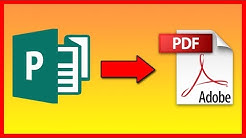 How to save / convert Publisher 2016 file .pub as PDF - Tutorial
