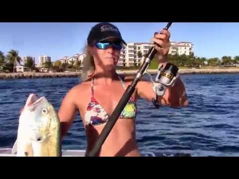 Florida Girl Catches Big Jack with Fin-nor Lethal 40 Reel
