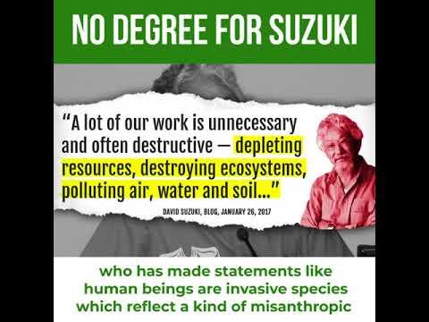 No Honourary Degree for David Suzuki