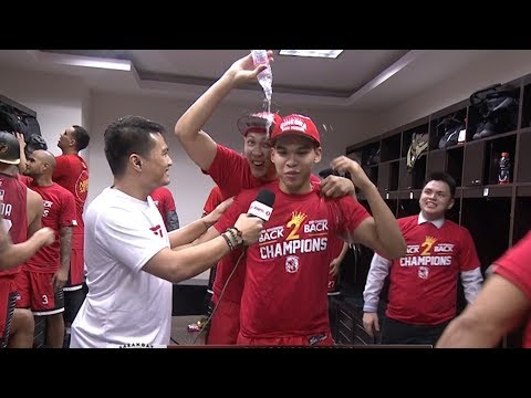 Ginebra's Locker Room Celebration - 2017 PBA Governors' Cup Champions (VIDEO)