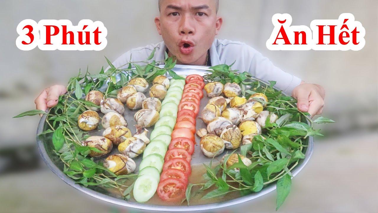 Thách Đố 3 Phút Ăn Hết Mâm Trứng Vịt Lộn Khổng Lồ. Ai Ăn Nhiều Nhất /Challenge Eat duck Eggs Pipping