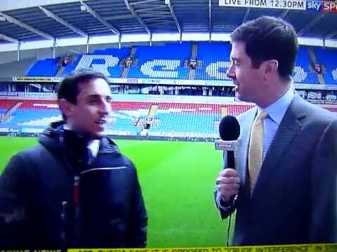 Gary Neville interview live on sky news