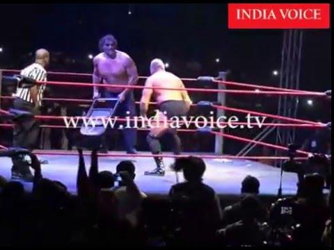 The Great Khali Wins Fight at Haldwani