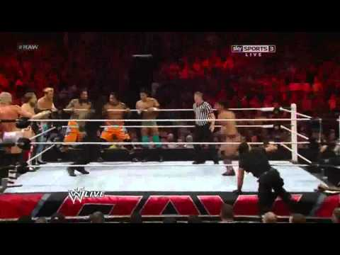 3 Spears in 60 seconds by Roman Reigns Raw 23 09 13