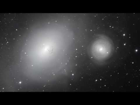 Galactic Serial Killer - Panning across the galaxies NGC 1316 and 1317