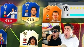 BROTHER VS BROTHER TOTS FUT DRAFT CHALLENGE!  - FIFA 17 TOTS!