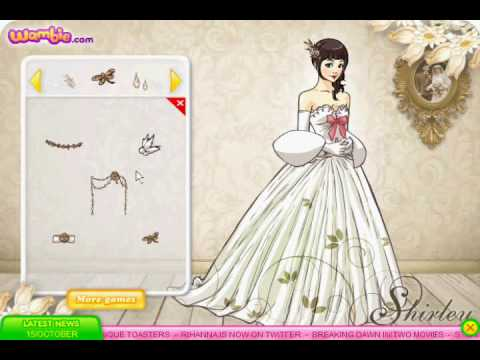 Shirley Wedding Dress up Game Review - YouTube