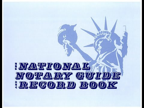 NATIONAL NOTARY RECORD BOOK FOR NOTARY PUBLIC