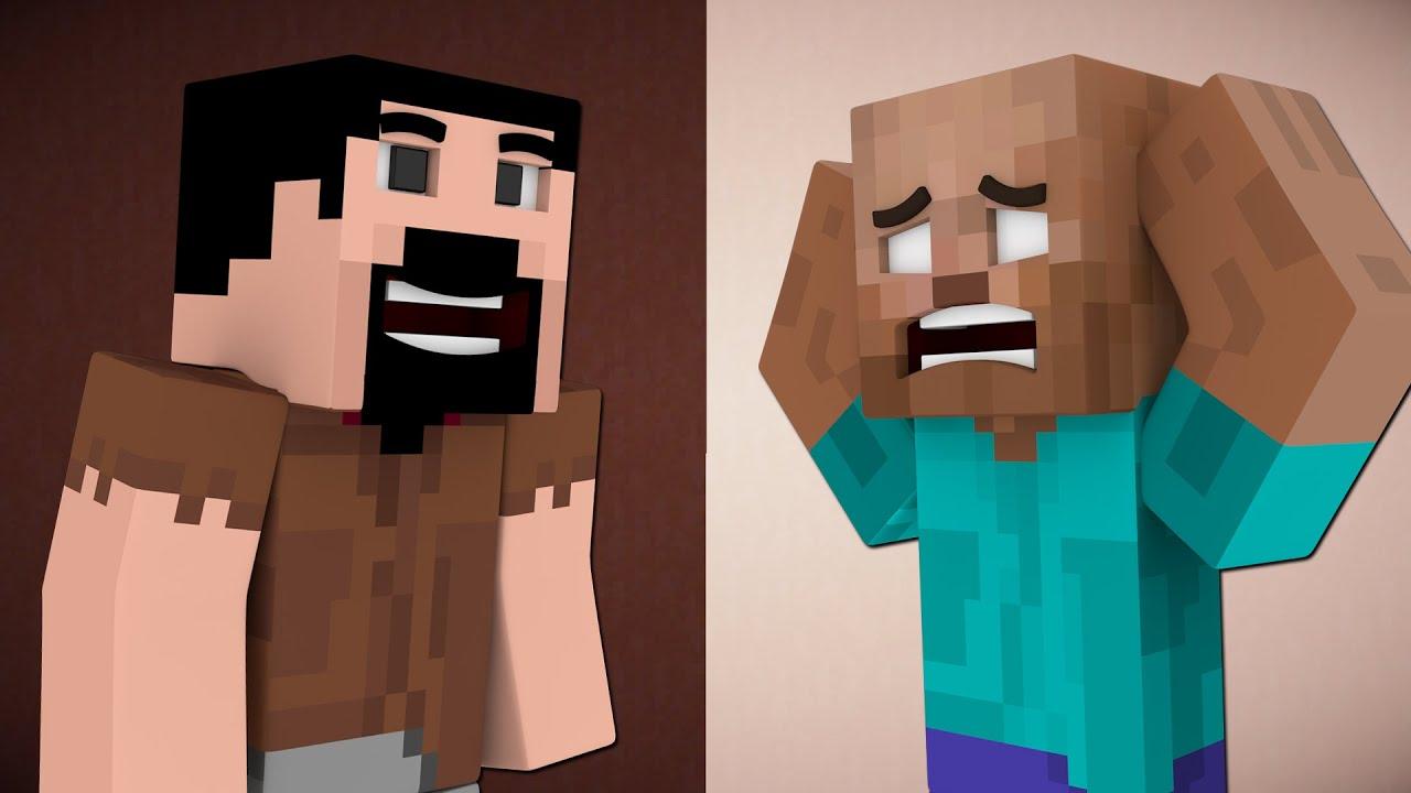 If Herobrine Was Bald And Notch Grew Hair Minecraft